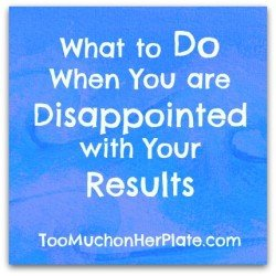 not reaching your goals